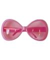 Grote roze feest brillen